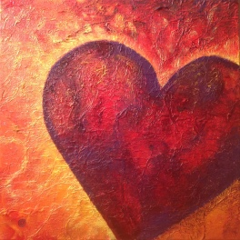 Radiate Love - Painting by Betty Healey